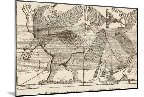 In Ancient Assyria Merodach Does Battle with a Dragon--Mounted Giclee Print