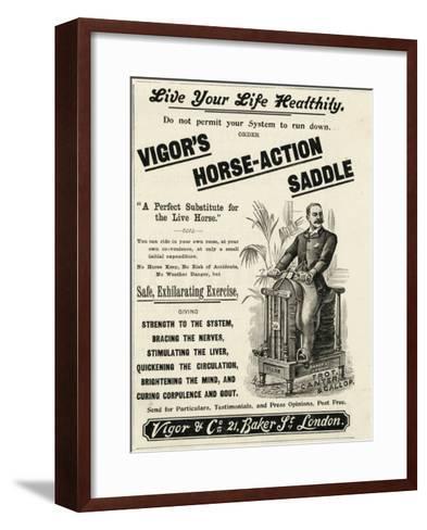 Vigor's Horse-Action Saddle--Framed Art Print