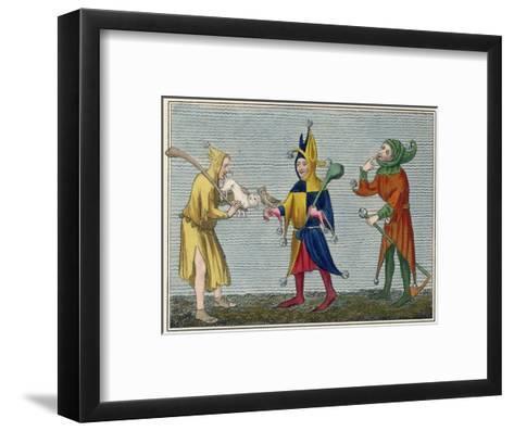 Court Jesters of the 14th Century-Joseph Strutt-Framed Art Print