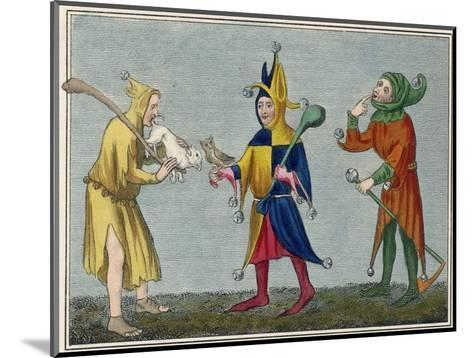 Court Jesters of the 14th Century-Joseph Strutt-Mounted Giclee Print