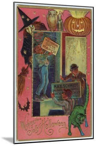 Hallowe'en Witch Offers Suitable Costume a Shopkeeper Provides Appropriate Eats--Mounted Giclee Print