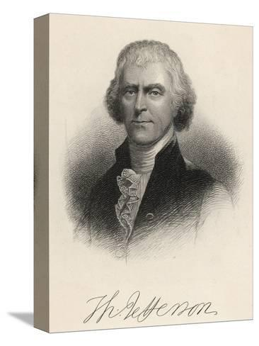 Thomas Jefferson Third President of the United States--Stretched Canvas Print