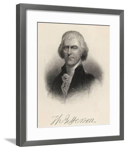 Thomas Jefferson Third President of the United States--Framed Art Print