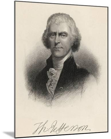 Thomas Jefferson Third President of the United States--Mounted Giclee Print