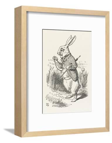 The White Rabbit Checks His Watch-John Tenniel-Framed Art Print