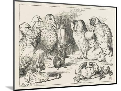 The Mouse Holds Court-John Tenniel-Mounted Giclee Print