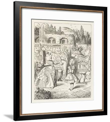 """Alice and the Queen of Hearts """"Off with Her Head!""""-John Tenniel-Framed Art Print"""