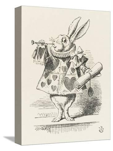 The White Rabbit in Herald's Costume-John Tenniel-Stretched Canvas Print
