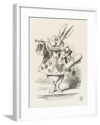 The White Rabbit in Herald's Costume-John Tenniel-Framed Art Print
