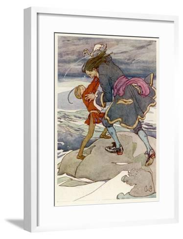 Peter Pan and Captain Hook Fight-Alice B^ Woodward-Framed Art Print