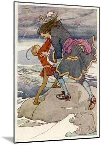 Peter Pan and Captain Hook Fight-Alice B^ Woodward-Mounted Giclee Print