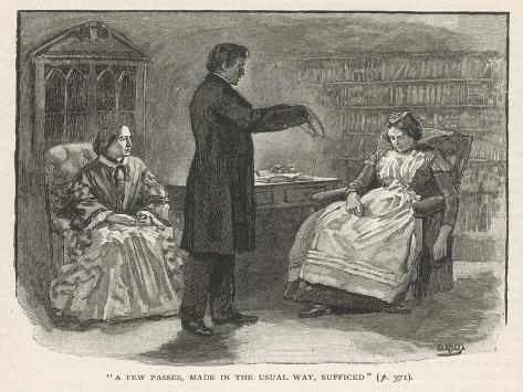 Mr. C N Barham Hypnotises His Servant Who Manifests Clairvoyance When in the Hypnotic State--Stretched Canvas Print