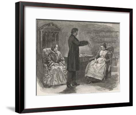 Mr. C N Barham Hypnotises His Servant Who Manifests Clairvoyance When in the Hypnotic State--Framed Art Print