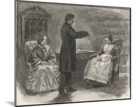 Mr. C N Barham Hypnotises His Servant Who Manifests Clairvoyance When in the Hypnotic State--Mounted Giclee Print