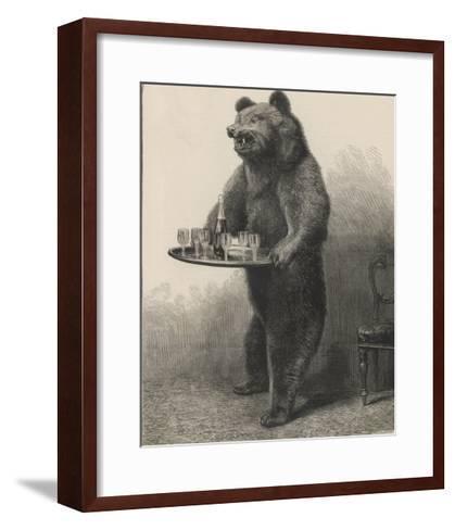 Bear Waiter--Framed Art Print
