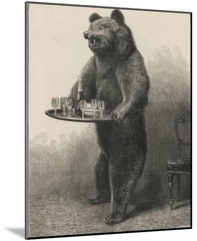 Bear Waiter--Mounted Giclee Print