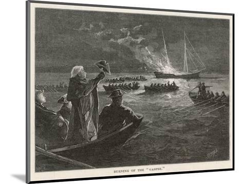 """The """"Gaspee"""" is Burned by Rebels off Rhode Island--Mounted Giclee Print"""