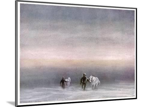 Scott Exercising the Ponies Through the Snow-Edward A^ Wilson-Mounted Giclee Print