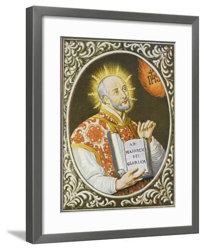 Ignatius Loyola Spanish Saint Founder of the Jesuit Order--Framed Art Print
