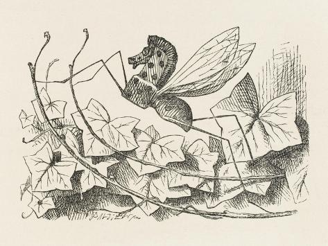 The Rocking-Horse Fly-John Tenniel-Stretched Canvas Print