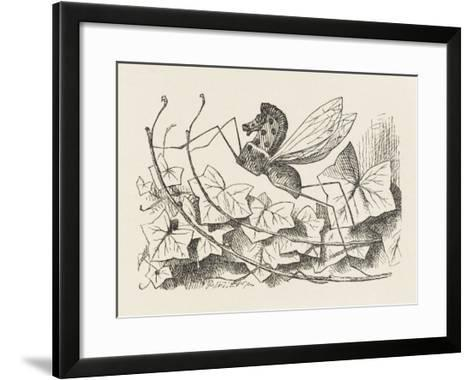 The Rocking-Horse Fly-John Tenniel-Framed Art Print