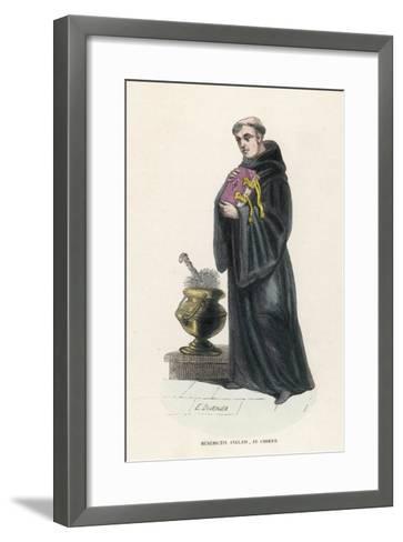 Benedictine Monk in England-L'abbe Tiron-Framed Art Print