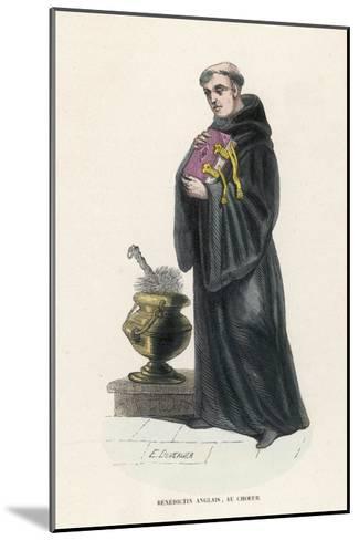 Benedictine Monk in England-L'abbe Tiron-Mounted Giclee Print