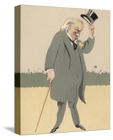 David Lloyd-George British Politician-Bert Thomas-Stretched Canvas Print
