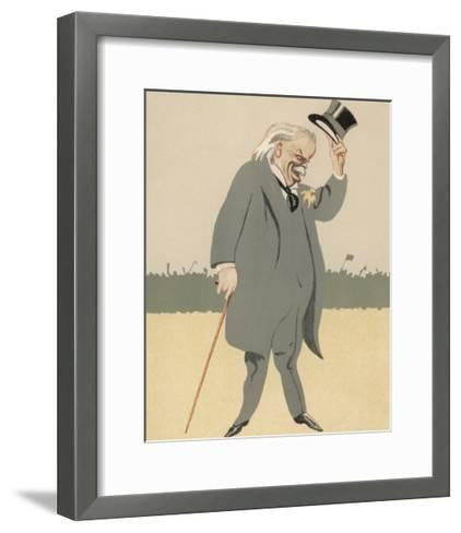David Lloyd-George British Politician-Bert Thomas-Framed Art Print