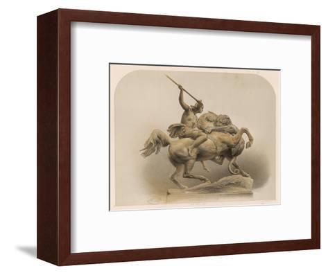 The Amazon, a Sculpture by Kiss Berlin of an Amazon Woman Spearing a Li--Framed Art Print