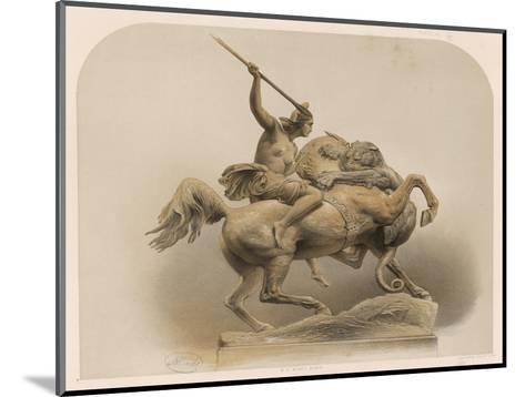 The Amazon, a Sculpture by Kiss Berlin of an Amazon Woman Spearing a Li--Mounted Giclee Print