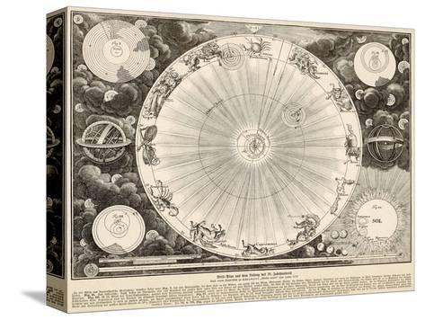 Planets and Zodiac--Stretched Canvas Print