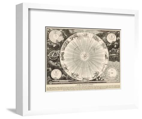 Planets and Zodiac--Framed Art Print