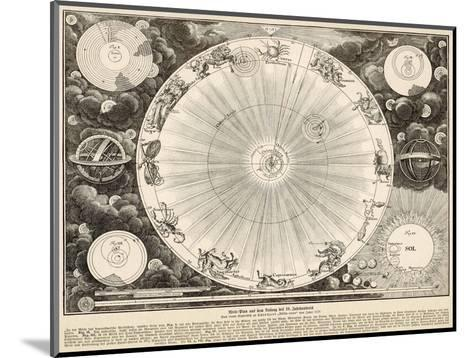 Planets and Zodiac--Mounted Giclee Print