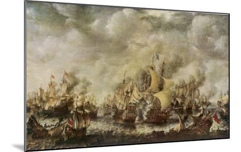 Sea Fight Between the English and the Dutch off the Coast of Ter Heyde--Mounted Giclee Print
