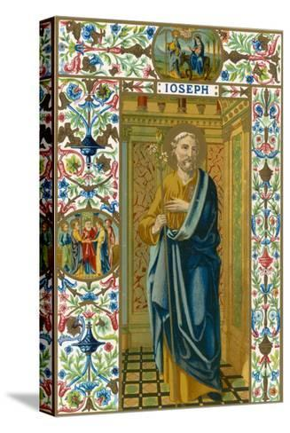 Saint Joseph Putative or Nominal Father of Jesus of Nazareth Husband of Mary Woodworker by Trade--Stretched Canvas Print