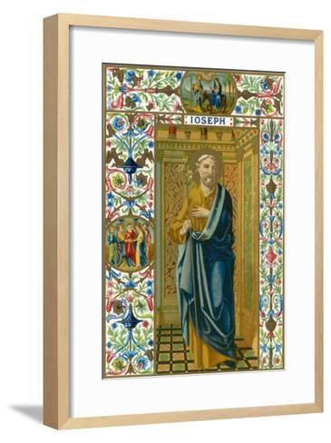 Saint Joseph Putative or Nominal Father of Jesus of Nazareth Husband of Mary Woodworker by Trade--Framed Art Print