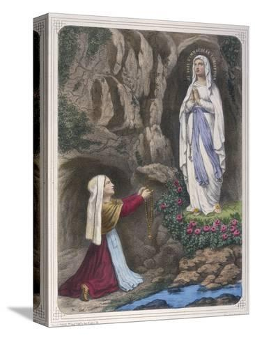 The Virgin Mary Reveals to Bernadette Soubirous That She is the Immaculate Conception--Stretched Canvas Print
