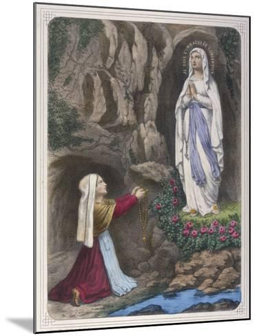 The Virgin Mary Reveals to Bernadette Soubirous That She is the Immaculate Conception--Mounted Giclee Print