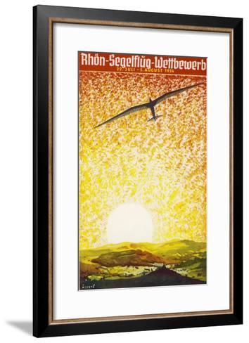 Poster for a German Gliding Meeting-Jupp Wiertz-Framed Art Print
