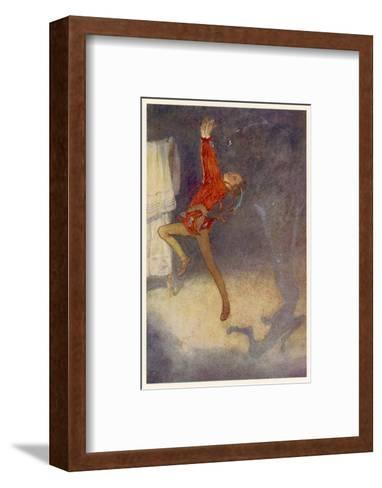 Peter Pan Dances with His Shadow-Alice B^ Woodward-Framed Art Print