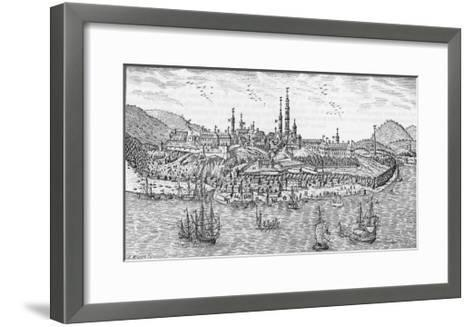 General View of Quebec and the St. Lawrence River--Framed Art Print