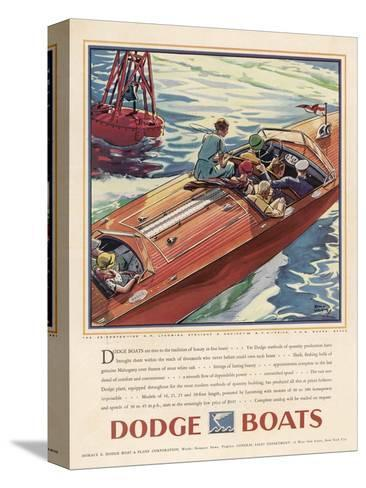 Advertisement for Dodge Boats-Ellis Wilson-Stretched Canvas Print