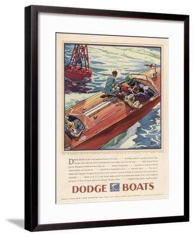 Advertisement for Dodge Boats-Ellis Wilson-Framed Art Print