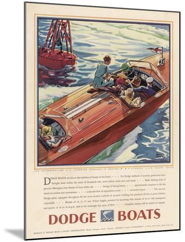 Advertisement for Dodge Boats-Ellis Wilson-Mounted Giclee Print