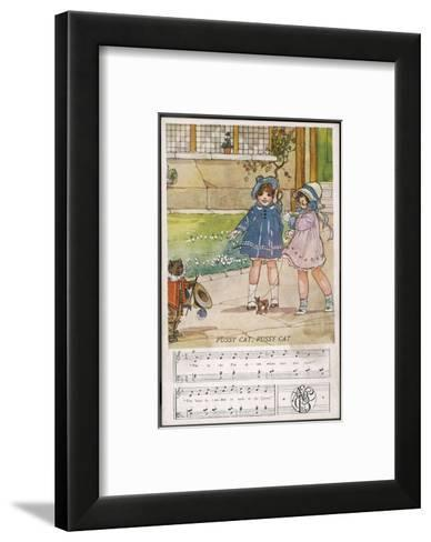 Pussy Cat Pussy Cat Where Have You Been?-Dorothy Wheeler-Framed Art Print