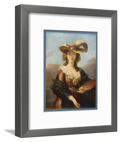 Elisabeth Vigee le Brun (Nee Vigee) French Artist--Framed Art Print