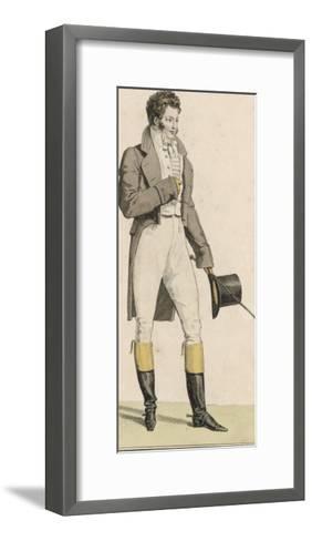 Male Riding Dress 1813--Framed Art Print