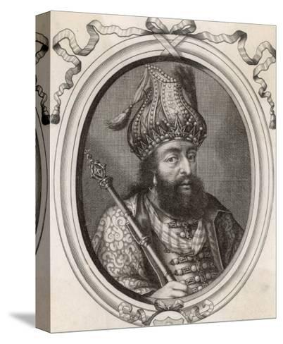 """Shah Jahan I """"Le Grand Mogol Ou l""""Empereur d""""Indostan"""" Mughal Emperor from 1628 to 1658--Stretched Canvas Print"""
