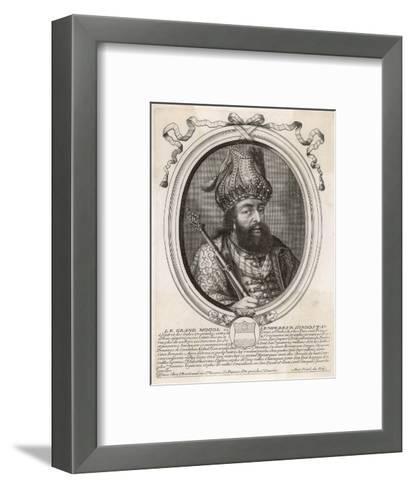 """Shah Jahan I """"Le Grand Mogol Ou l""""Empereur d""""Indostan"""" Mughal Emperor from 1628 to 1658--Framed Art Print"""